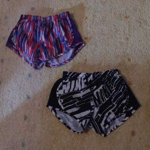 2 pairs Girls Nike shorts